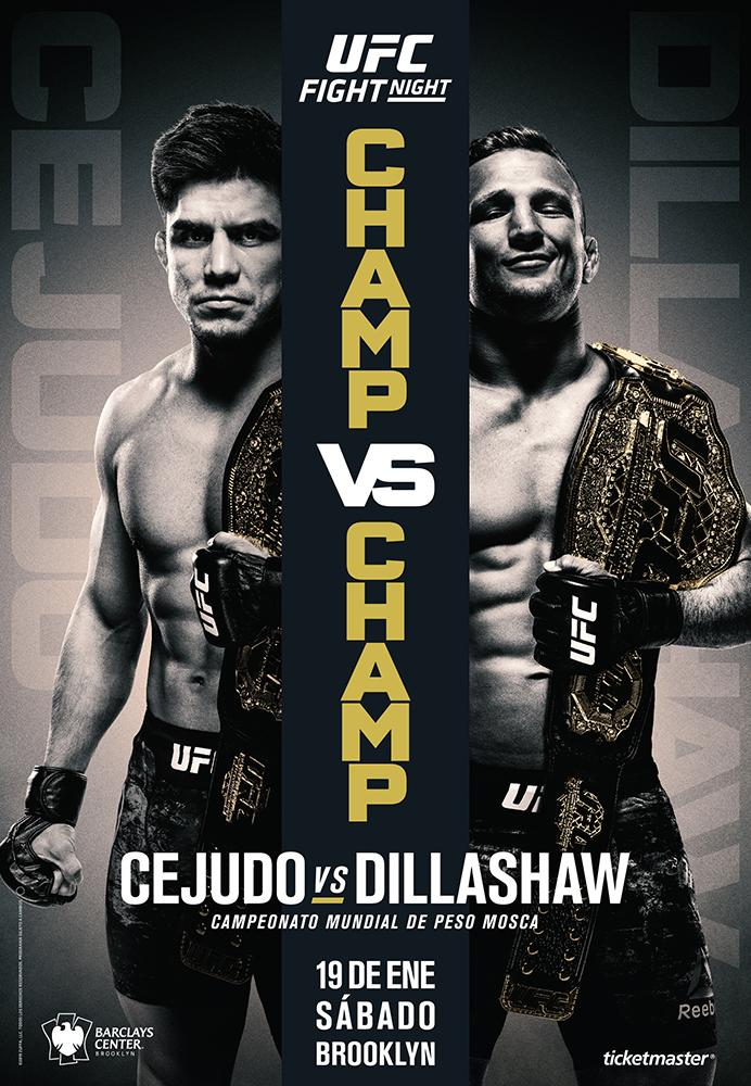 UFC Brooklyn Cejudo vs Dillashaw poster oficial
