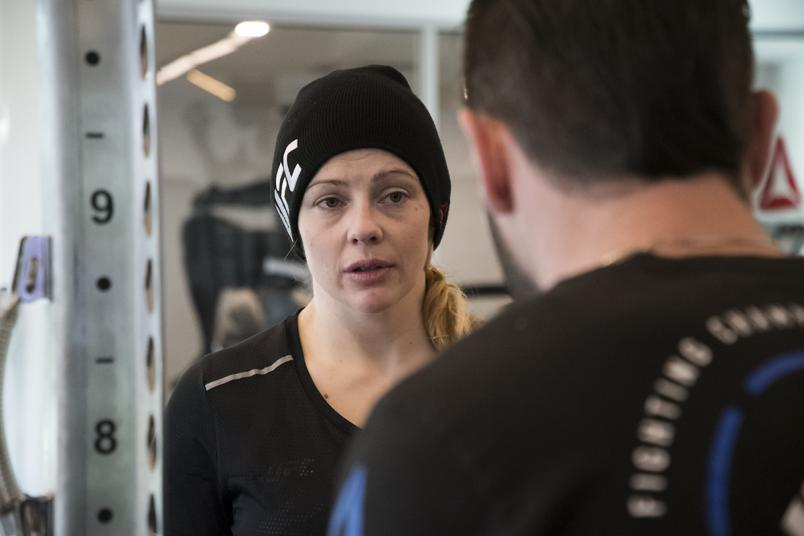 Joanne Calderwood at the UFC Performance Institute training for UFC Brooklyn