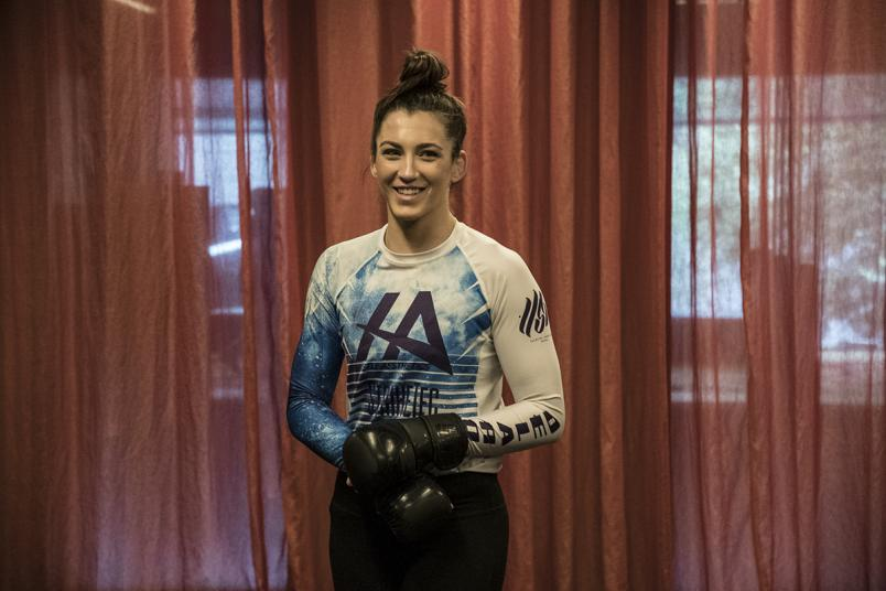 2 - Montana de la Rosa training in Melbourne for UFC 234