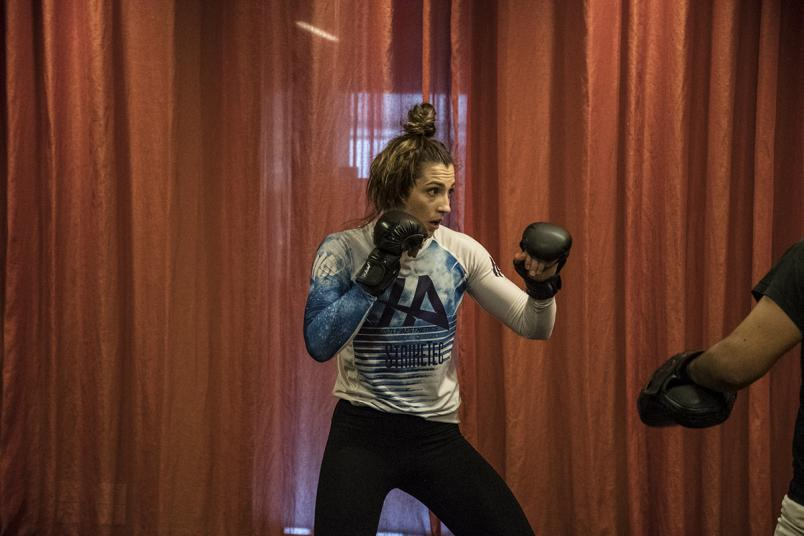 3 - Montana de la Rosa training in Melbourne for UFC 234