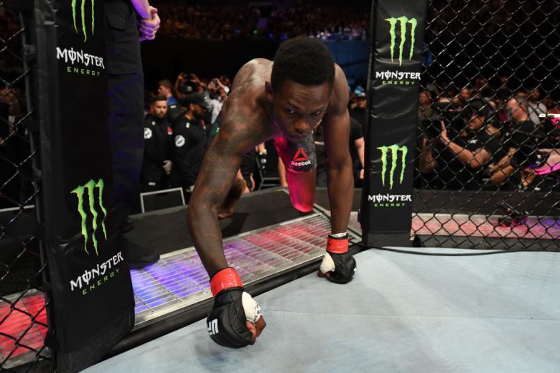 UFC 234 Israel Adesanya enters the Octagon