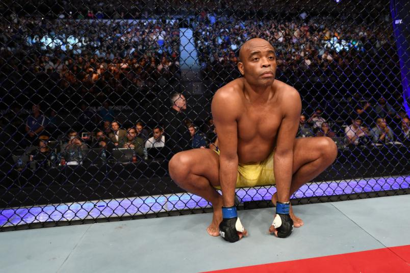 UFC 234 Anderson Silva right before his fight with Israel Adesanya