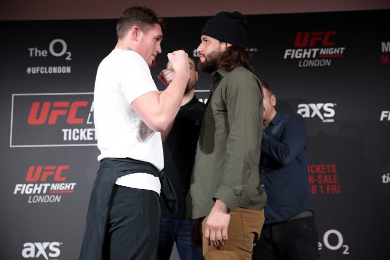 Darren Till and Jorge Masvidal face off during the UFC press confrence