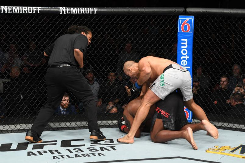 Junior Dos Santos finish Derrick Lewis UFC Wichita