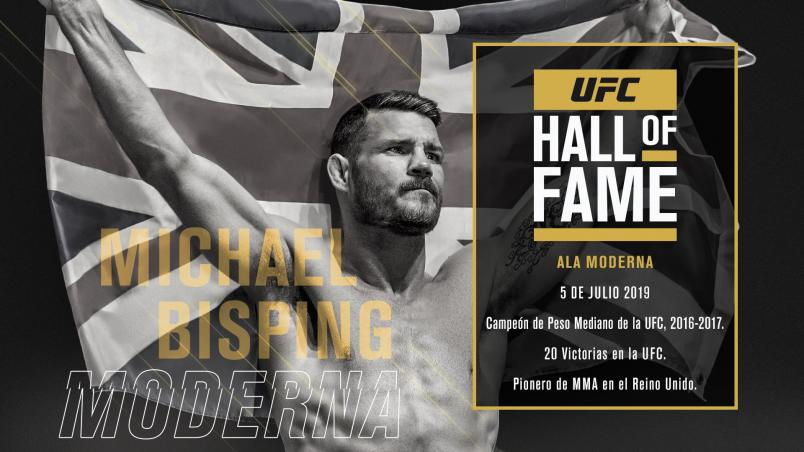 Michael Bisping hall of fame announcement Espanol