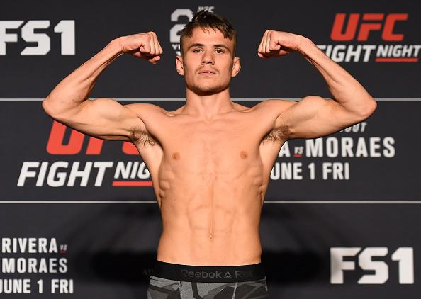 UTICA, NY - MAY 31:  Nathaniel Wood of England poses on the scale during the UFC weigh-in at the DoubleTree Hotel on May 31, 2018 in Utica, New York. (Photo by Josh Hedges/Zuffa LLC/Zuffa LLC via Getty Images)