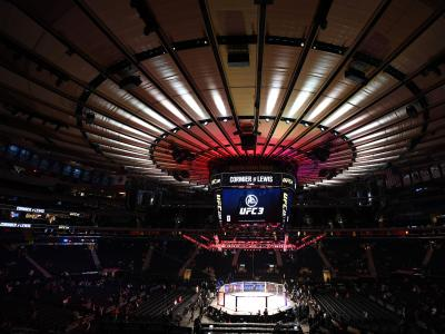 NEW YORK, NY - NOVEMBER 03: A general view of the Octagon during the UFC 230 event inside Madison Square Garden on November 3, 2018 in New York, New York. (Photo by Jeff Bottari/Zuffa LLC via Getty Images)