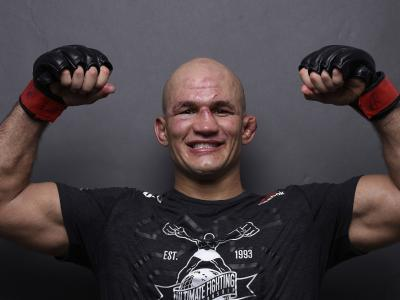 Junior Dos Santos of Brazil poses for a post fight portrait during the UFC Fight Night event inside CenturyLink Arena on July 14, 2018 in Boise, Idaho. (Photo by Mike Roach/Zuffa LLC)