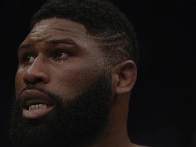 BEIJING, CHINA - NOVEMBER 24: Curtis Blaydes reacts after his TKO loss to Francis Ngannou in their heavyweight bout during the UFC Fight Night event inside Cadillac Arena on November 24, 2018 in Beijing, China. (Photo by Jeff Bottari/Zuffa LLC/Zuffa LLC via Getty Images)