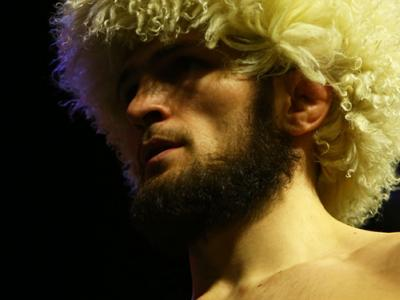 NEW YORK, NY - APRIL 06:  Khabib Nurmagomedov of Russia poses on the scale during the UFC 223 weigh-in at Barclays Center on April 6, 2018 in New York City.  (Photo by Mike Stobe/Zuffa LLC/Zuffa LLC via Getty Images)