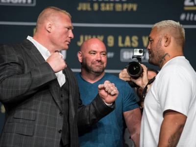 Brock Lesnar vs Mark Hunt