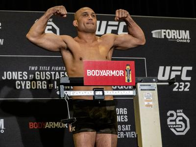 BJ Penn at the UFC 232 official weigh ins