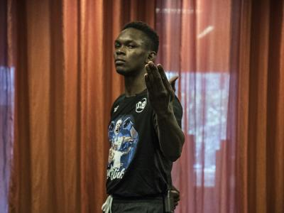UFC 234 Israel Adesanya checks in in Melbourne