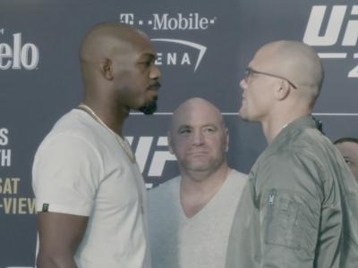 UFC 235 media day Jon jones vs Anthony Smith face off