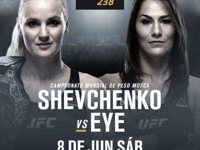 UFC 238 Shevchenko vs Eye anuncio espanol