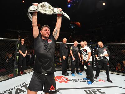 MANCHESTER, ENGLAND - OCTOBER 08:  Michael Bisping of England celebrates his victory over Dan Henderson in their UFC middleweight championship bout during the UFC 204 Fight Night at the Manchester Evening News Arena on October 8, 2016 in Manchester, Engla