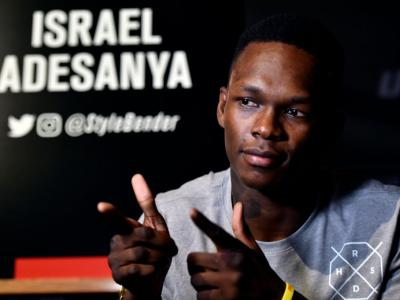 PERTH, AUSTRALIA - FEBRUARY 08:  Israel Adesanya interacts with media during the UFC 221 Ultimate Media Day at Hyatt Regency on February 8, 2018 in Perth, Australia. (Photo by Jeff Bottari/Zuffa LLC)