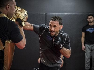 Las Vegas 2/28/18 - Frankie Edgar workout at the UFC Performance Institute in preparation for UFC 222 (Photo credit: Juan Cardenas)
