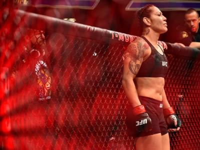 LAS VEGAS, NV - DECEMBER 30:  Cris Cyborg of Brazil prepares to face Holly Holm in their women's featherweight bout during the UFC 219 event inside T-Mobile Arena on December 30, 2017 in Las Vegas, Nevada. (Photo by Brandon Magnus/Zuffa LLC/Zuffa LLC via