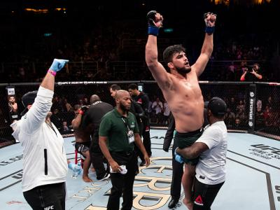 RIO DE JANEIRO, BRAZIL - MAY 12: Kelvin Gastelum of the United States celebrates victory over Ronaldo Souza of Brazil in their middleweight bout during the UFC 224 event at Jeunesse Arena on May 12, 2018 in Rio de Janeiro, Brazil. (Photo by Buda Mendes/Zu