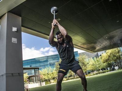 LAS VEGAS 6/28/18 - UFC Middleweight fighter Uriah Hall trains at the UFC Performance Institute in Las Vegas for his UFC 226 fight on July 7th at the T-Mobile Arena. (Photo credit: Juan Cardenas)