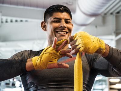 Las Vegas 5/1/18 - El peleador mexicano de UFC Hector Aldana se prepara en el UFC Performance Institute en las Vegas para su debut en UFC Singapore el 23 de Junio. (Credito: Juan Cardenas)