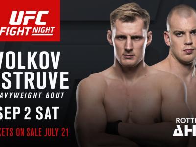 UFC Fight Night Rotterdam September 2 2017 Alexander Volkov vs Stefan Struve