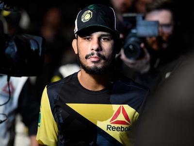 DENVER, CO - JANUARY 28:  Alexandre Pantoja of Brazil prepares to enter the Octagon before facing Eric Shelton in their flyweight bout during the UFC Fight Night event at the Pepsi Center on January 28, 2017 in Denver, Colorado. (Photo by Josh Hedges/Zuff