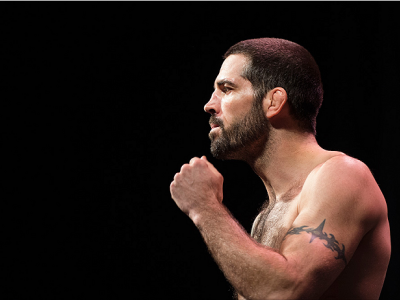 DALLAS, TX - MARCH 13: Matt Brown stands on the scale during the UFC 185 weigh-ins at the Kay Bailey Hutchison Convention Center on March 13, 2015 in Dallas, Texas. (Photo by Cooper Neill/Zuffa LLC/Zuffa LLC via Getty Images)