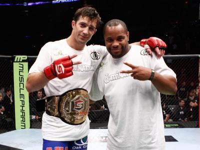 PORTLAND, OR - JULY 14:   (L-R) Luke Rockhold and Daniel Cormier at the Strikeforce event at the Rose Garden on July 14, 2012 in Portland, Oregon.  (Photo by Esther Lin/Forza LLC/Zuffa LLC via Getty Images)  *** Local Caption *** Luke Rockhold; Daniel Cor